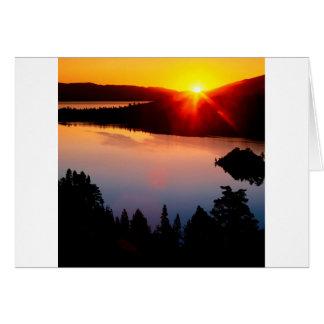 Sunset Emerald Bay Lake Tahoe Card