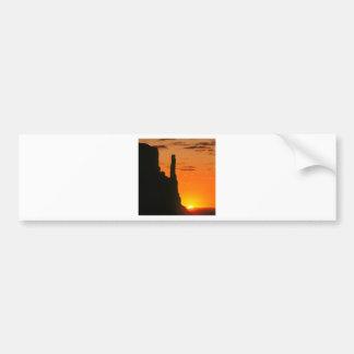 Sunset Evening Monument Navajo Car Bumper Sticker