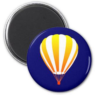 sunset fade hot air balloon magnet