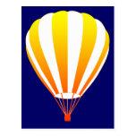 sunset fade hot air balloon post card