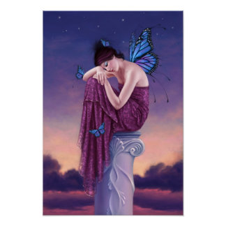 Sunset Fairy Poster Art Print
