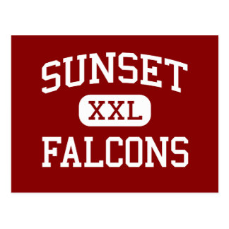 Sunset - Falcons - High - Hayward California Postcard