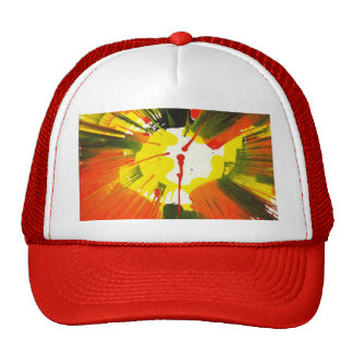 Sunset Fall Colors Spin Art Hat