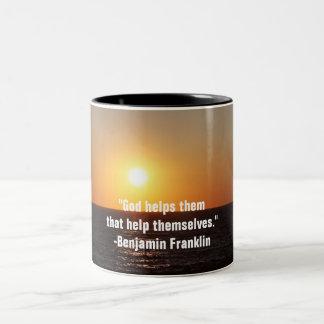 Sunset Famous Quote Mug