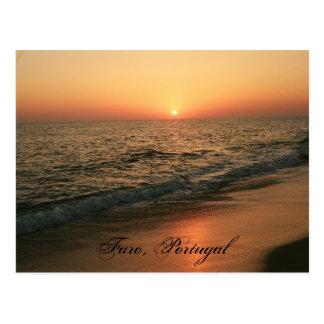 Sunset: Faro, Portugal Post Card