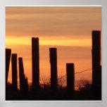 sunset fence print