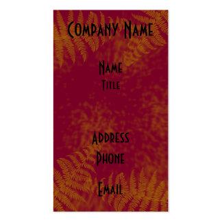 Sunset Ferns Business Card