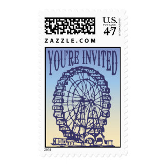 Sunset Ferris Wheel - You're Invited Postage Stamp