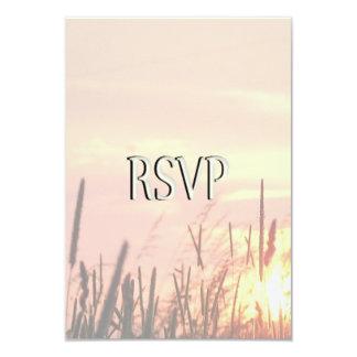 Sunset Field Wedding RSVP Card