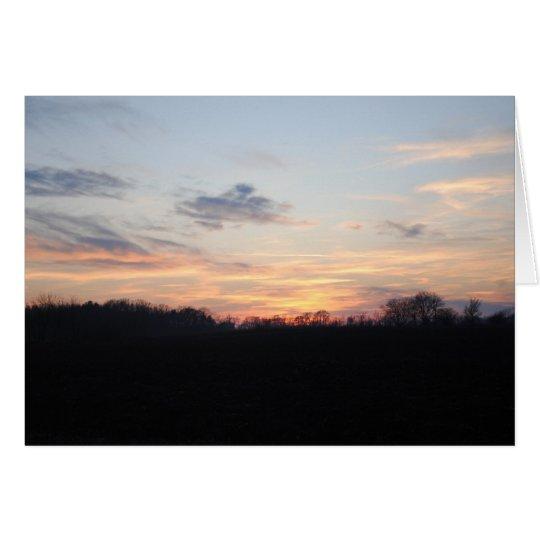 Sunset Fields Card