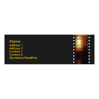 Sunset Filmstrip Profile Card Double-Sided Mini Business Cards (Pack Of 20)