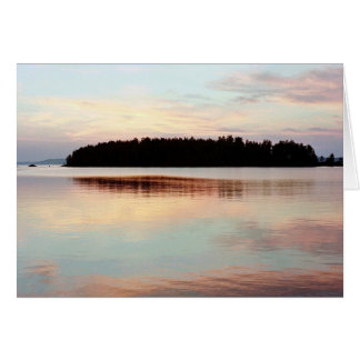 Sunset, Finland Greeting Card