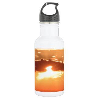 Sunset Fire Stainless Steel Water Bottle