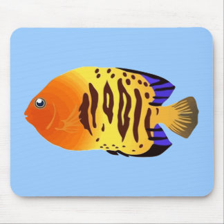 Sunset Fish Water Color Mouse Pad