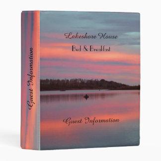 Sunset Fisherman B&B Guest Information Book Mini Binder