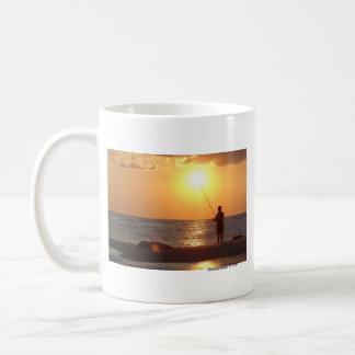 Sunset Fishing in Cape May mug