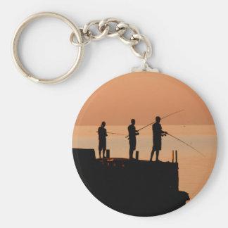 Sunset fishing key chain