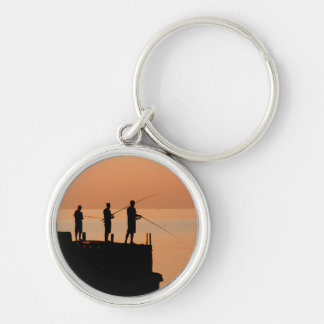 Sunset fishing keychain