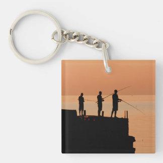Sunset fishing keychains