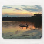 Sunset Fishing Mouse Pad