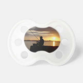 Sunset Fishing Point Of View Baby Pacifier