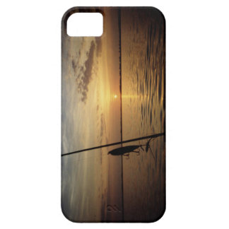 Sunset fishing scene iPhone SE/5/5s case