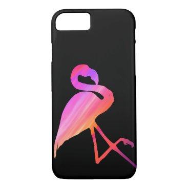 Beach Themed Sunset Flamingo Phone Case