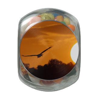 Sunset Flight Glass Candy Jars