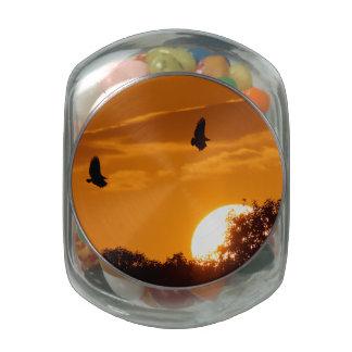 Sunset Flight Glass Jar