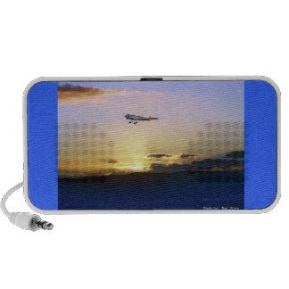 Sunset Flight over Pacific Portable Speaker