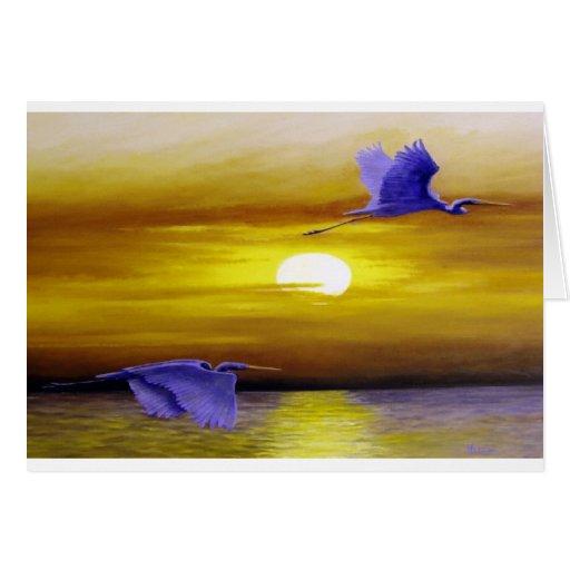 Sunset Flights Card