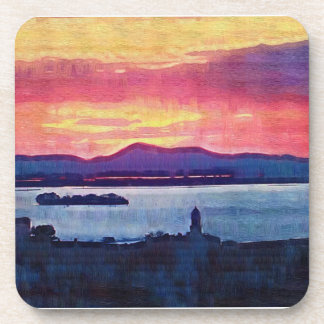 Sunset Florence Italy Drink Coaster