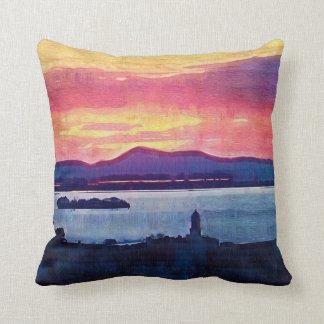 Sunset Florence Italy Throw Pillow