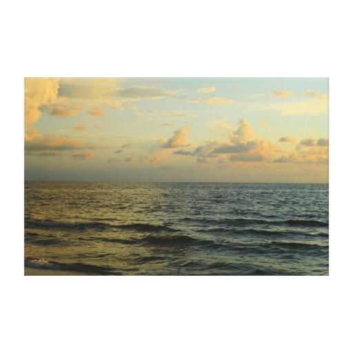 Sunset Florida Gulf coast Stretched Canvas Print