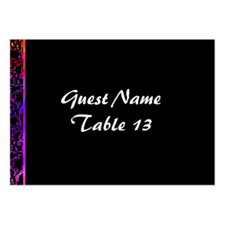 Sunset Flourish Art Deco table number card Large Business Card