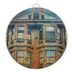 Sunset for a Victorian in SanFrancisco Mission SFC Dartboard With Darts