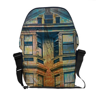 Sunset for a Victorian in SanFrancisco Mission SFC Messenger Bag