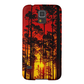 Sunset forest appearance case for galaxy s5