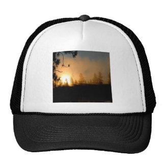 Sunset Forest Fire Trucker Hat