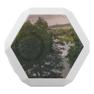 Sunset Forest Lake Landscape Photograph White Boombot Rex Bluetooth Speaker