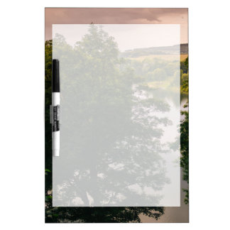Sunset Forest Lake Landscape Photograph Dry-Erase Board