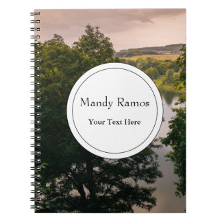 Sunset Forest Lake Landscape Photograph Notebook