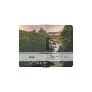 Sunset Forest Lake Landscape Photograph Pocket Moleskine Notebook