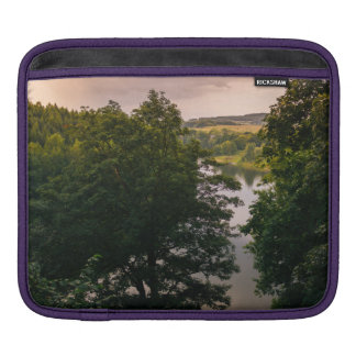 Sunset Forest Lake Landscape Photograph Sleeves For iPads