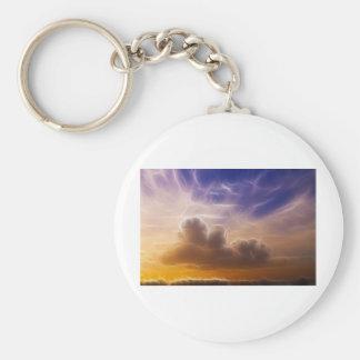 Sunset Fractals Keychain