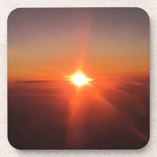Sunset from an Aircraft Coasters