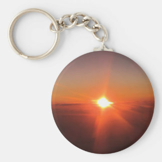 Sunset from an Aircraft Keychain
