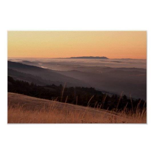 Sunset from Borel Hill Poster