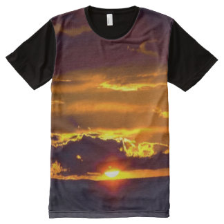 Sunset From Carlsbad Caverns All-Over Print T-shirt
