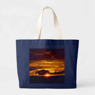 Sunset From Carlsbad Caverns Large Tote Bag
